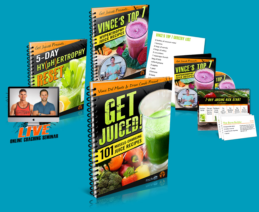 Get Juiced Recipes and all the bonuses