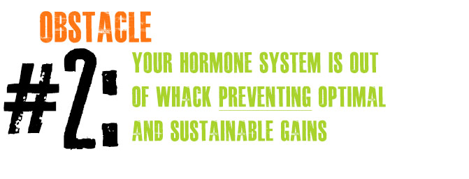 Obstacle #2: Your Hormone System is Out of Whack PREVENTING Optimal and Sustainable Gains