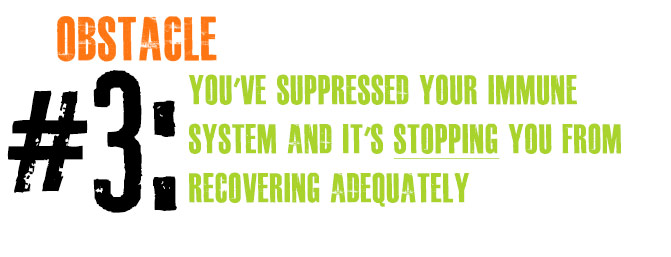 Obstacle #3: You've Suppressed Your Immune System And It's STOPPING You From Recovering Adequately